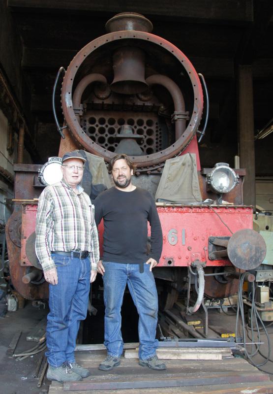 Michiel en George bij een echte NS4700